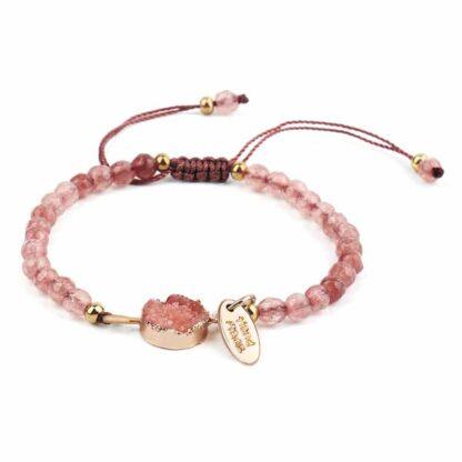 Kreatív kristály karkötő - rózsaszín