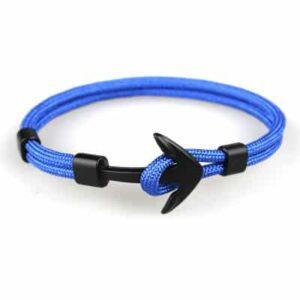 Kék horgony kötél karkötő
