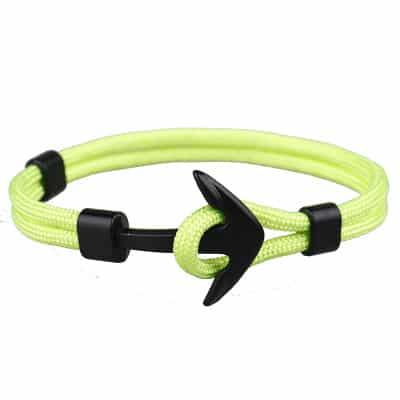Zöld horgony kötél karkötő