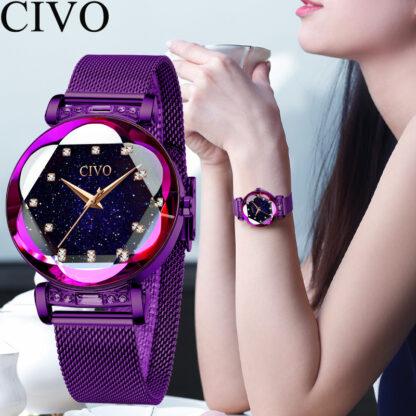 CIVO rózsaszín női karóra - Purple Lady 2