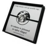 Szerelmes karkötő szett föld térkép medállal - fekete_kk10