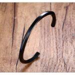 Csavart nemesacél karperec - 4mm vastag - fekete színben 2_kk111