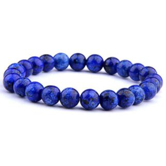 Kék lápisz lazuli ásvány karkötő - 8mm