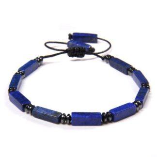 Lápisz lazuli karkötő szögletes ásvány