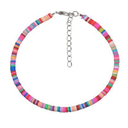 Vegyes színű gumi-gyöngy bokalánc