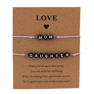 Anya lánya karkötő szett - mom and daughter - rózsaszín